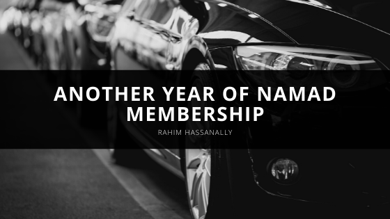 Rahim Hassanally Observes Another Year of NAMAD Membership